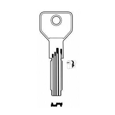 Abus AB48-AB1B House Key (100pcs) %100 Brass Made in Turkey