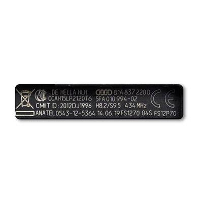 Audi Q2 Keyless Go Key 434MHz Megamos AES 81A837220D OEM