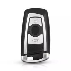 Bmw F Series 3 Buttons Smart Key Shell Grey - Thumbnail