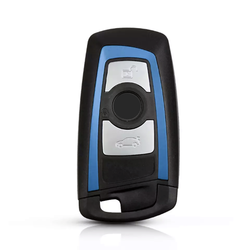 Bmw - Bmw F Series 3 Buttons Smart Key Shell Blue