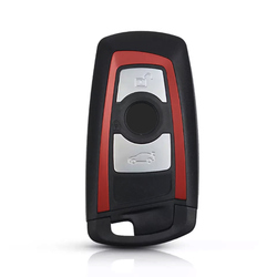 Bmw F Series 3 Buttons Smart Key Shell Red - Thumbnail