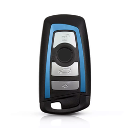 Bmw F Series 4 Buttons Smart Key Shell Blue - Thumbnail