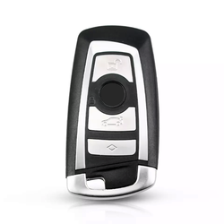 Bmw F Series 4 Buttons Smart Key Shell Grey - Thumbnail
