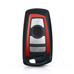 Bmw F Series 4 Buttons Smart Key Shell Red - Thumbnail