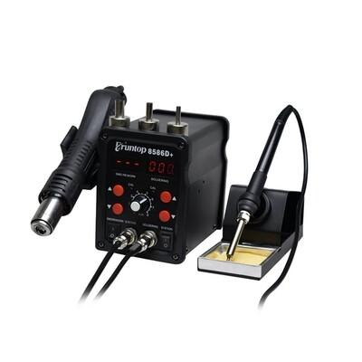 China - Digital Display 2in1 Electric Soldering Irons + Hot Air Gun SMD Rework Station