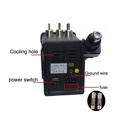 Digital Display 2in1 Electric Soldering Irons + Hot Air Gun SMD Rework Station - Thumbnail