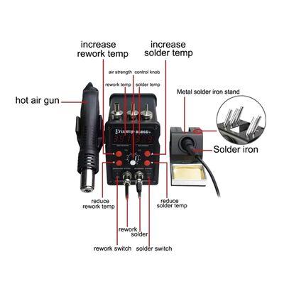 Digital Display 2in1 Electric Soldering Irons + Hot Air Gun SMD Rework Station