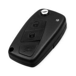 Fiat - Fiat 3 Buttons Flip Key Shell with back cover