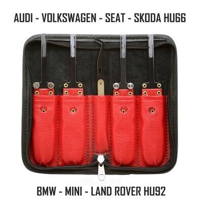 GT11 VAG and BMW High Security Door Openner Kit Lock Pick Tools HU66 HU92