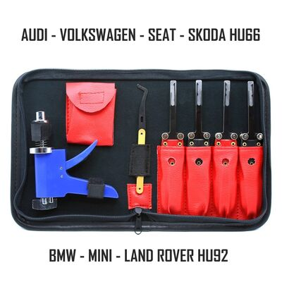 GT22 VAG and BMW High Security Door Openner Kit Lock Pick Tools HU66 HU92