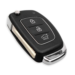 Hyundai - Hyundai 3 buttons flip key shell new type