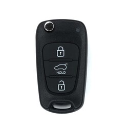 Hyundai - Hyundai i30 3 Buttons Flip Remote Key 2012+ Genuine