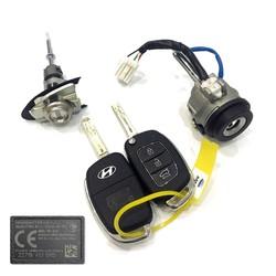 Hyundai - Hyundai New i20 Lock Set PCF7938X 434MHz