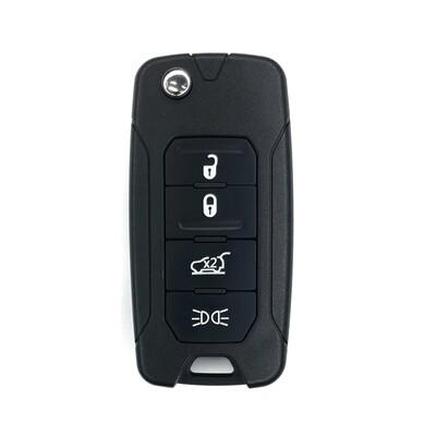 Chrysler/Jeep - Jeep Renegade 4Btn Flip Remote Key 433MHz