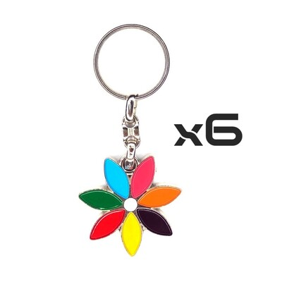 Auto Key Store - Key Rings Model-11 6PCS