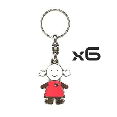 Auto Key Store - Key Rings Model-15 6PCS