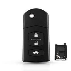 Mazda - Mazda 3 buttons flip key shell battery holder type 2