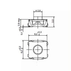 Original 4 Legs Switch (Renault, Opel, Wolkswagen) 10PCs - Thumbnail