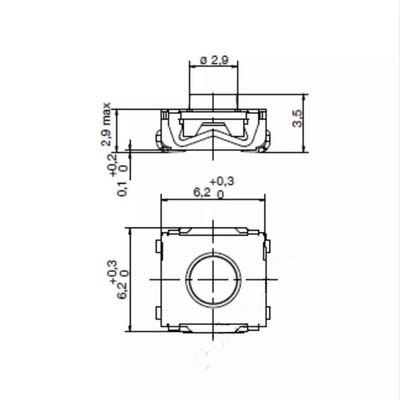 Original 4 Legs Switch (Renault, Opel, Wolkswagen) 10PCs