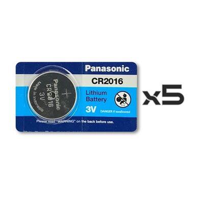 Panasonic CR2016 Lithium Battery 5pcs Original