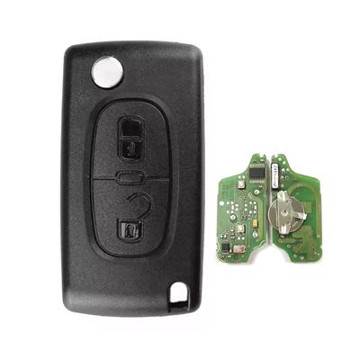 Peugeot 2Bt Remote Flip Key 434MHz Genuine Board - Thumbnail