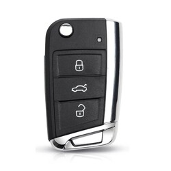 Volkswagen - Volkswagen MQB Chrome Key Shell